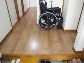 車椅子だけでなく、家族みんなが使いやすくなりました。